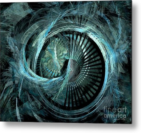 Abstract Metal Print featuring the digital art Stargate 431-08-13 Marucii by Marek Lutek