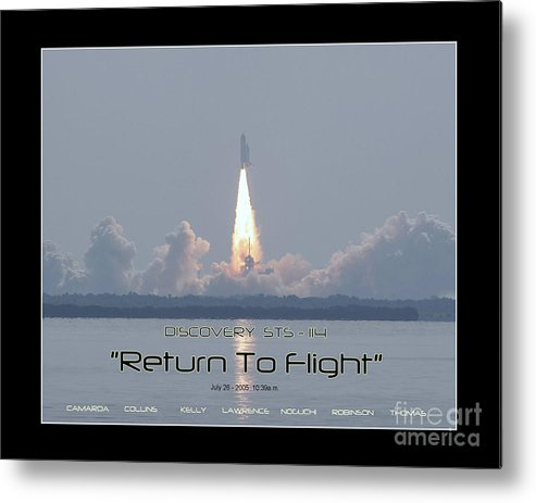 Space Shuttle Discovery Launch Metal Print featuring the photograph Sts-114 Discovery Launch by Jeffrey Wills
