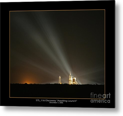 Sts-116 Launch Pad Metal Print featuring the photograph Sts-116 Discovery by Jeffrey Wills