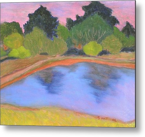 Original Oil By Susan Hall Metal Print featuring the painting Summer by Susan Hall