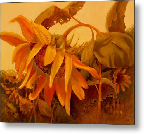 Flower Metal Print featuring the painting Sundance by Sue Darius