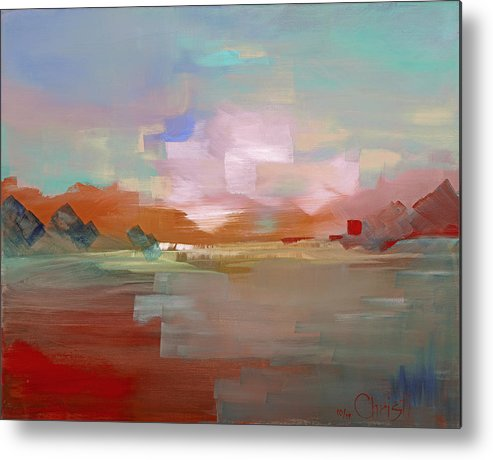 Sunset Metal Print featuring the painting Sunset 501 by Christine Brinson