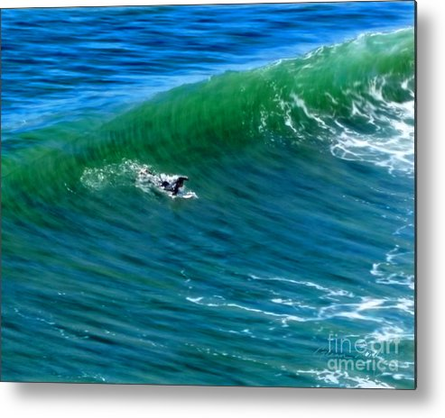 Surf 1 Take Off Metal Print featuring the mixed media Surf 1 Take Off by Glenn McNary