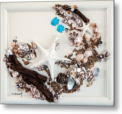 Mixed Media Metal Print featuring the mixed media Swimming In The Reef by Dawn Broom