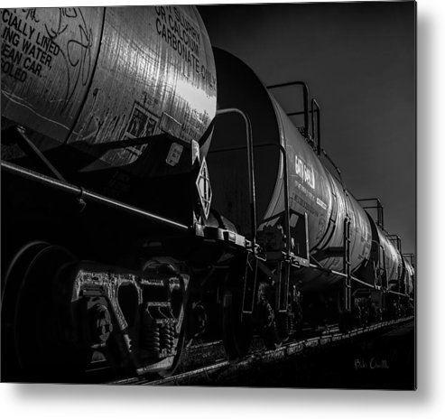 Tanker Metal Print featuring the photograph Tanker Cars by Bob Orsillo