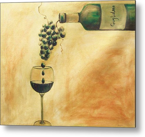 Wine Metal Print featuring the painting Taste Of Life by Sheri Chakamian
