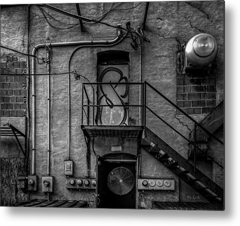 Abstract Metal Print featuring the photograph The City Is A Poem by Bob Orsillo