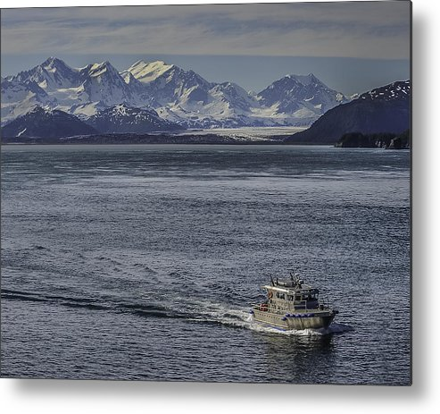 Pilot Metal Print featuring the photograph The Pilot Arrives by Laurence Levine