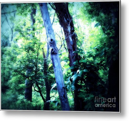 Trees Metal Print featuring the mixed media The Tree Spirits by Angie Staft