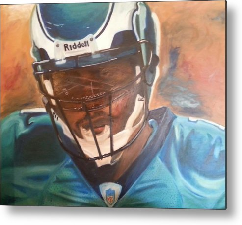 Michael Metal Print featuring the painting Tunnel Vision by Willie Porter