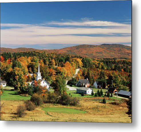Adnt Metal Print featuring the photograph Usa, Vermont, Northeast Kingdom, View by Walter Bibikow