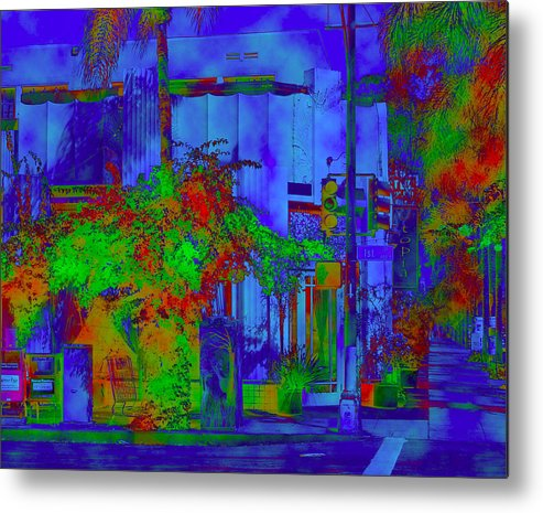 Colorful Metal Print featuring the digital art Utopia by Barbara Tabachnick