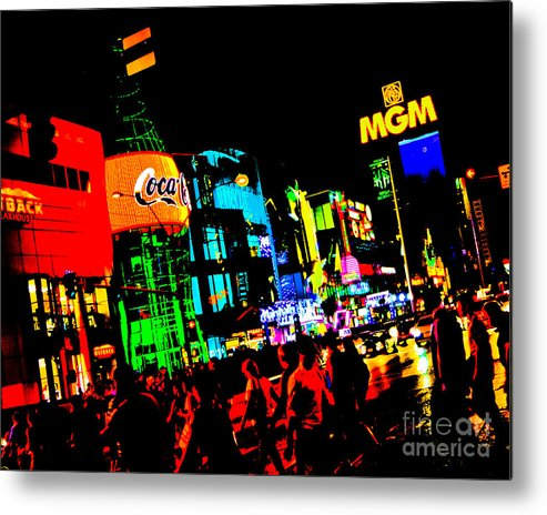 Neon Metal Print featuring the photograph Vegas Lights by Rebekah Wilson