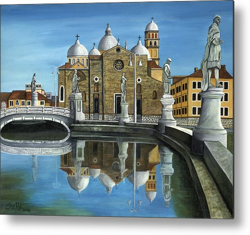 Landscape Metal Print featuring the painting Veneto by SheRok Williams