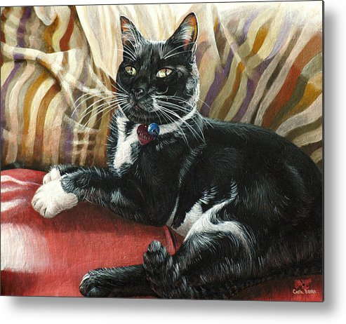 Victor Metal Print featuring the painting Victor by Cara Bevan