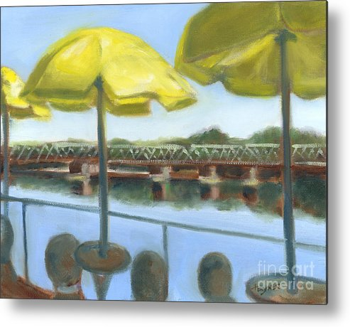 New Hope Metal Print featuring the painting View From Martine's-new Hope by Addie Hocynec