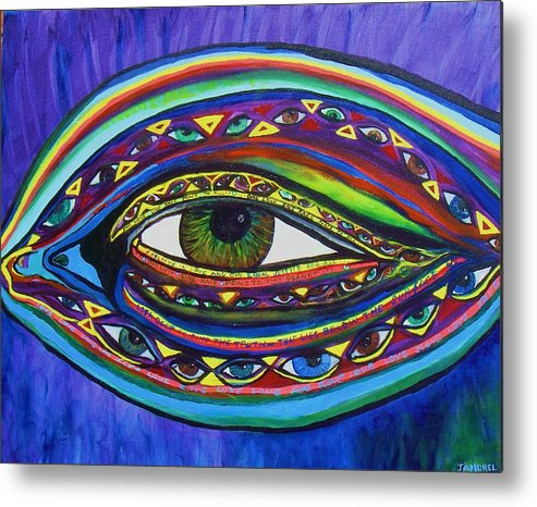 Vision Metal Print featuring the painting Vision by J Andrel