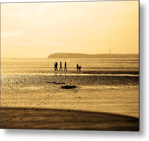 Seascape Metal Print featuring the photograph Walking by Ann Fogarty