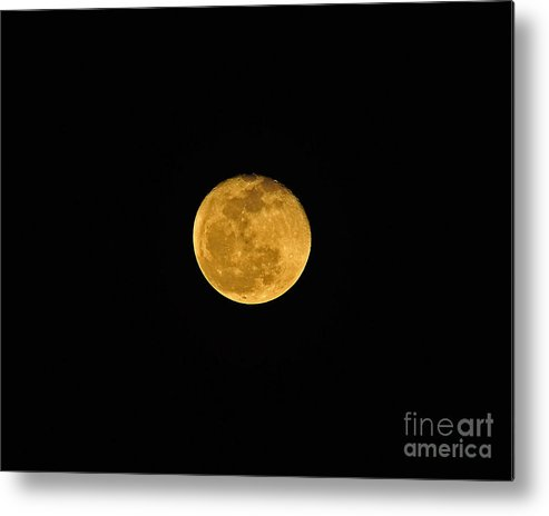 Moon Metal Print featuring the photograph Waning Passover Moon by Al Powell Photography USA