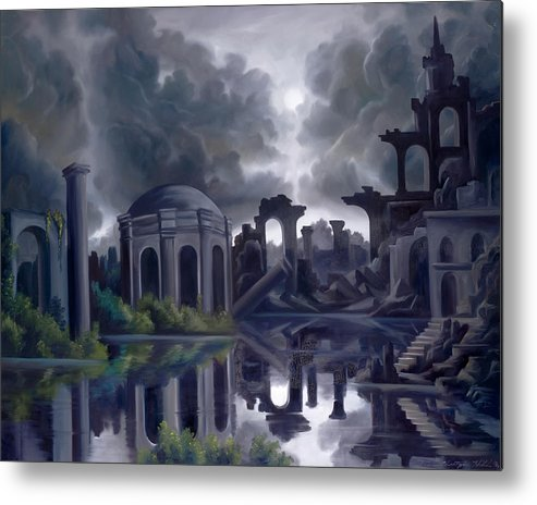 Ruins Metal Print featuring the painting We Lost Our Empire A Long Time Ago by James Christopher Hill