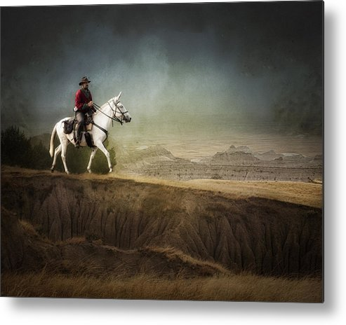 Landscape Metal Print featuring the photograph Westward by Ron McGinnis