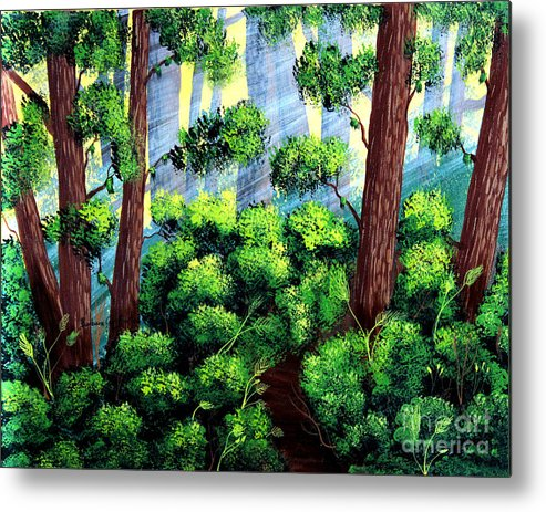 Barbara Griffin Metal Print featuring the painting Where The Path Leads by Barbara Griffin