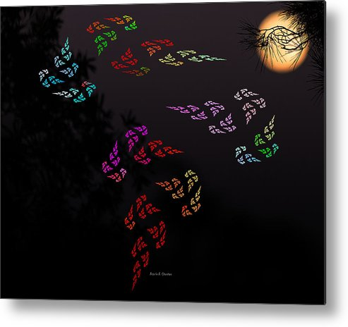 Super Moon Metal Print featuring the mixed media Windows Of Secrets by Angela Stanton