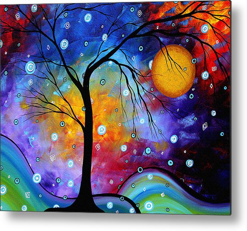 Abstract Metal Print featuring the painting Winter Sparkle Original Madart Painting by Megan Duncanson
