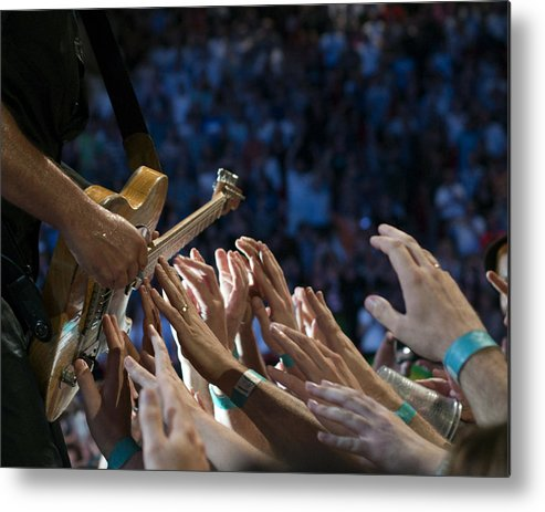 Springsteen Metal Print featuring the photograph With These Hands by Jeff Ross