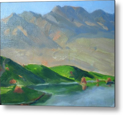 Golf Paridise In Mesquite Metal Print featuring the painting Wolf Creek by Bryan Alexander