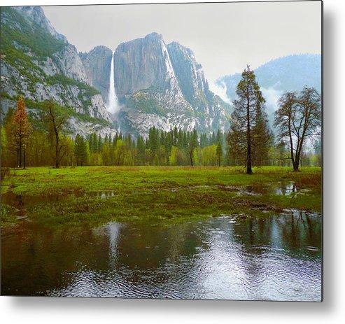 Yosemite Metal Print featuring the photograph Yosemite Rain by Dena Baker