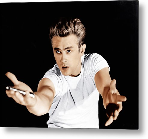 1950s Portraits Metal Print featuring the photograph Rebel Without A Cause, James Dean, 1955 by Everett