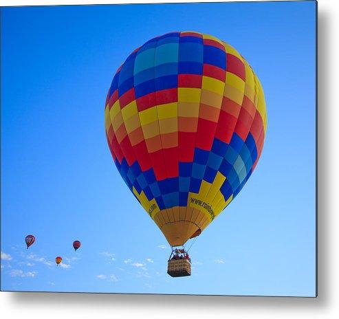 Hot Metal Print featuring the photograph Balloon Fiesta by Michael Clubb