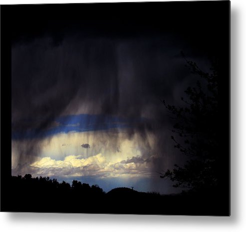 Thunderstorms Metal Print featuring the photograph Beyond The Veil by Susanne Still