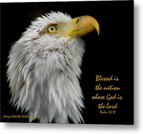 Eagle Metal Print featuring the photograph Blessed Is The Nation by Grace Dillon