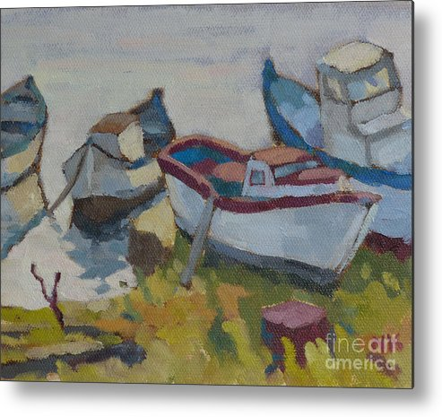 Boats Metal Print featuring the painting Boats by Nikolai Kraneis