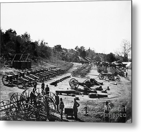 1864 Metal Print featuring the photograph Civil War: Artillery by Granger