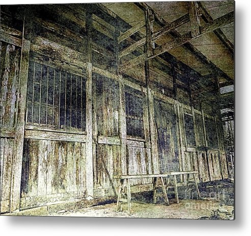 Old Metal Print featuring the photograph Deserted Chinese Farm House by Yali Shi
