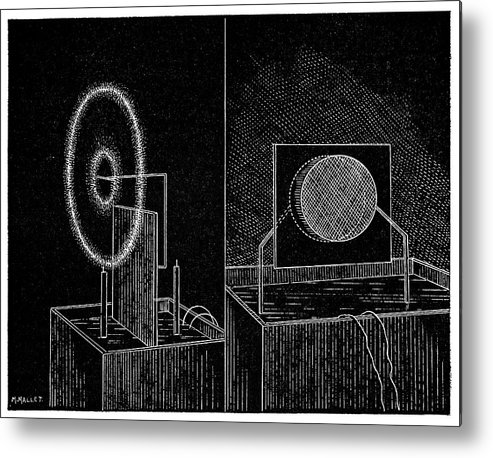 Glow Metal Print featuring the photograph Electrical Phenomena, 19th Century by