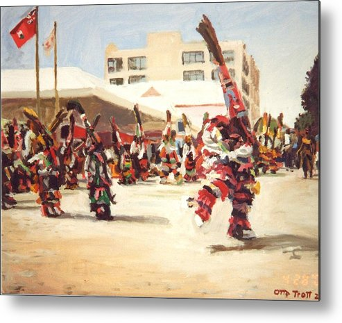 Bermuda Metal Print featuring the painting Gombeys 4 by Otto Trott
