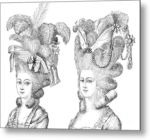 Hairstyle 18th Century Metal Print By Granger