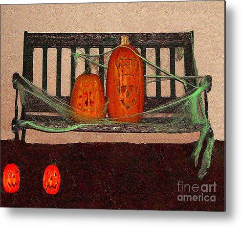 Halloween Metal Print featuring the photograph Halloween Decoration by Merton Allen