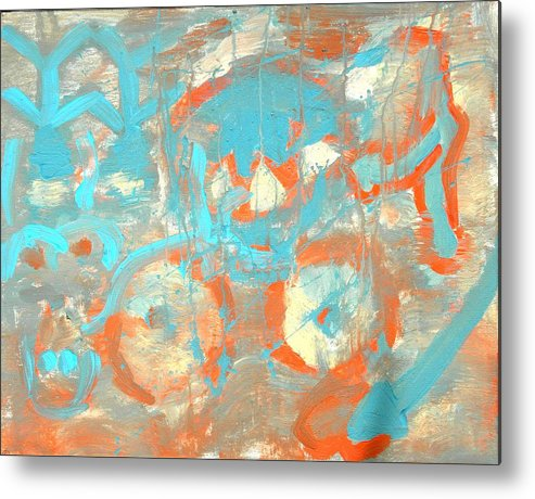 Treachery Metal Print featuring the painting Happy Thoughts by Musat Iliescu