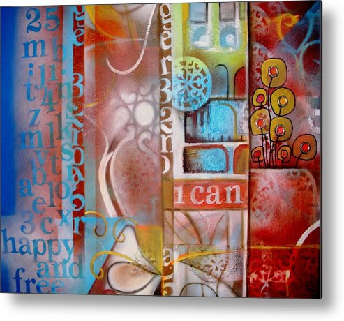 Hope Metal Print featuring the painting Honesty by Gladys Saravia