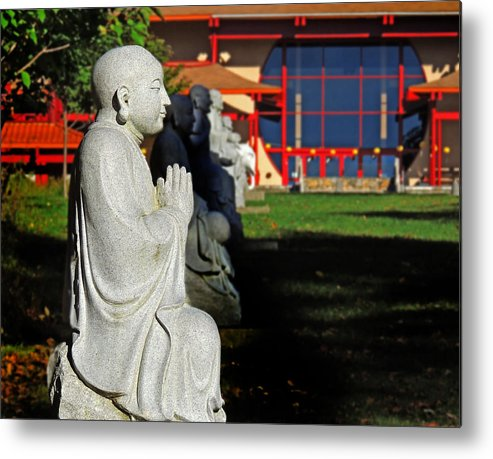 Buddhas Metal Print featuring the photograph In The Garden - 2 by Larry Mulvehill