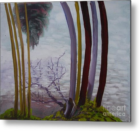 Landscape Metal Print featuring the painting Lines In Nature by Nelson Dale
