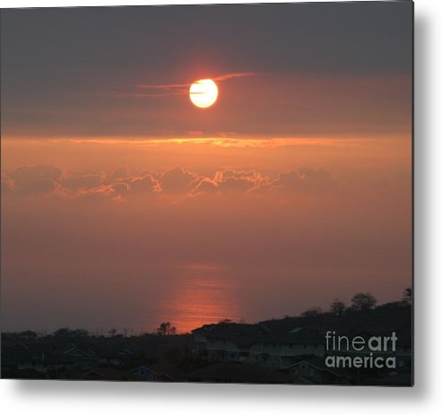 Ocean Metal Print featuring the photograph Makakilo Sunset by Anthony Trillo