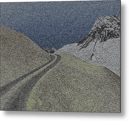 Mountain Metal Print featuring the digital art Mountain Pass by Daniel Madrid