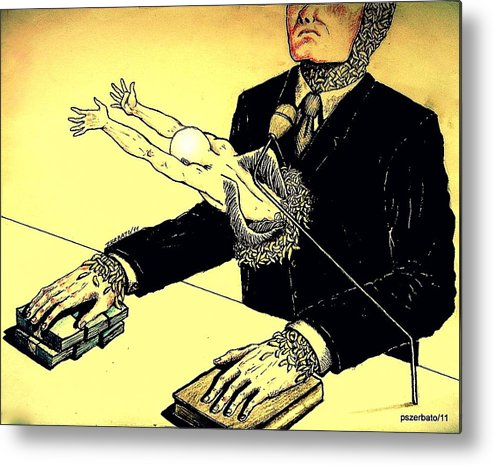Politics Without Idealism Metal Print featuring the digital art Politics Without Idealism by Paulo Zerbato