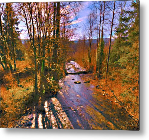 Preston Metal Print featuring the photograph Raging River Near Preston by Scott Massey